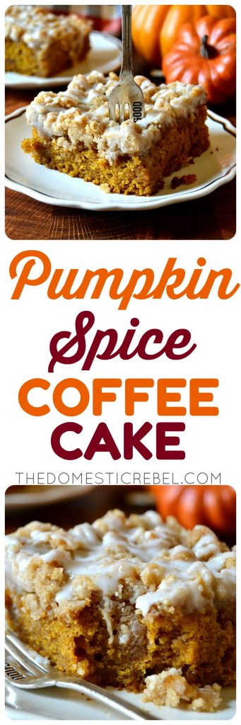 Pumpkin Spice Coffee Cake photo collage