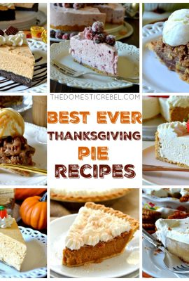 best thanksgiving pie desserts collage