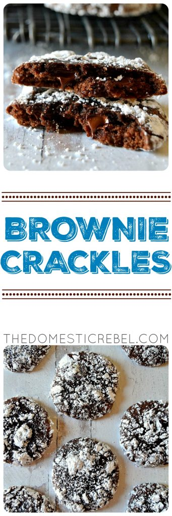 Brownie Crackles photo collage