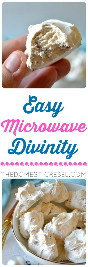 Easy Microwave Divinity candy photo collage