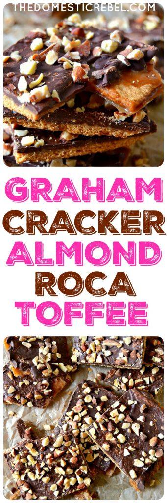 Graham cracker almond roca photo collage