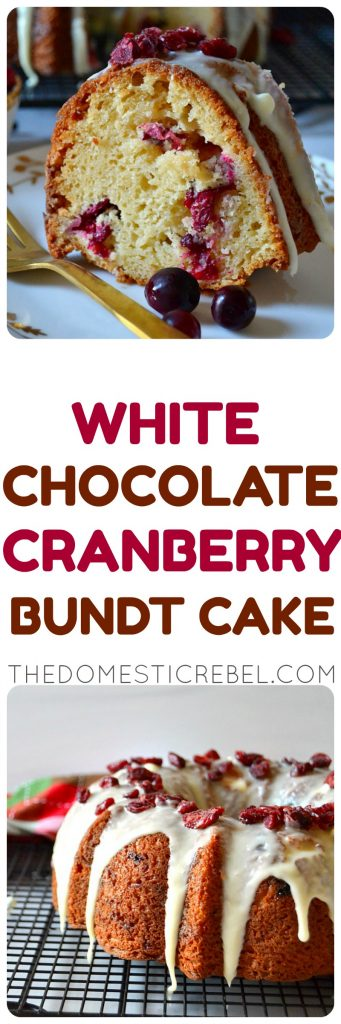 White Chocolate Cranberry Bundt Cake photo collage