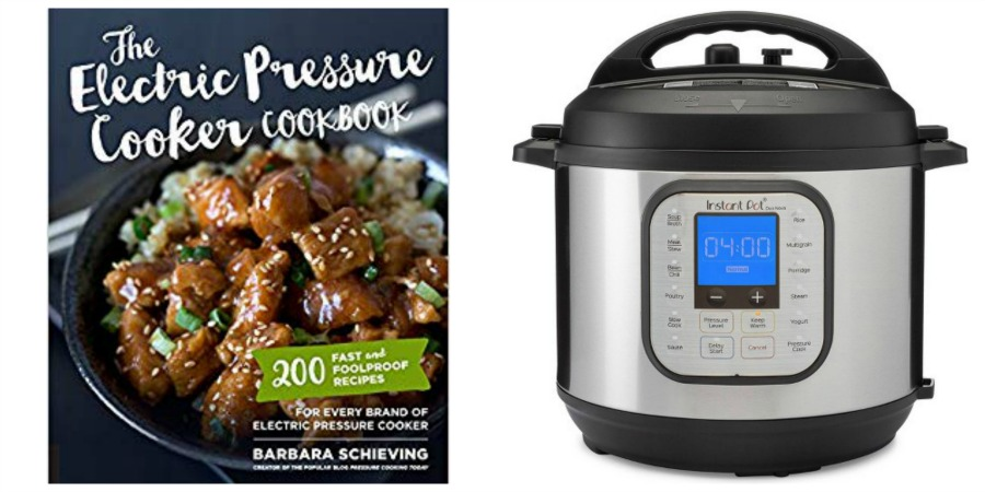 pressure cooker cookbook and instant pot collage