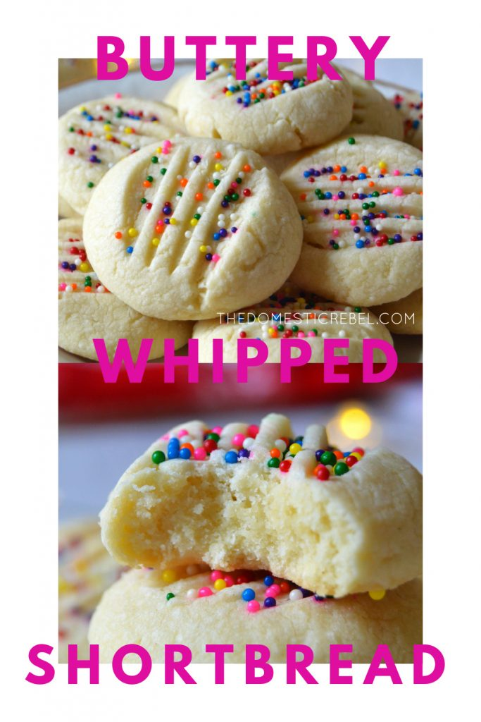 Buttery Whipped Shortbread Cookies photo collage