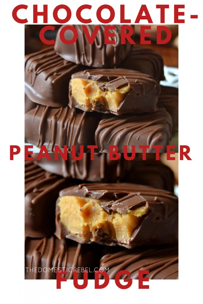 Chocolate-Covered Peanut Butter Fudge photo collage