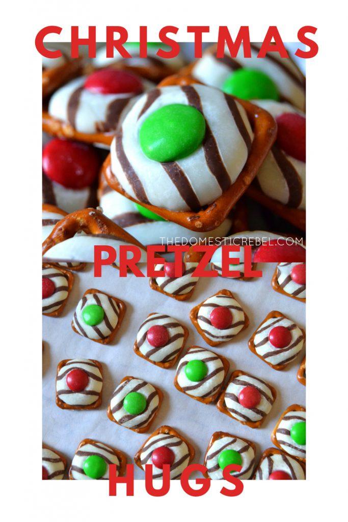 Christmas Pretzel Hugs photo collage