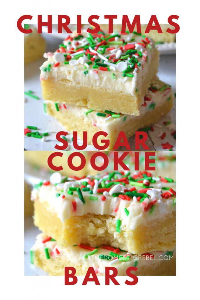 Christmas Sugar Cookie Bars photo collage