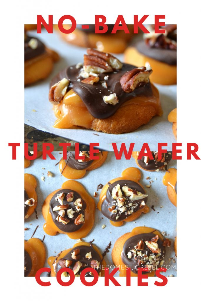 No-Bake Turtle Wafer Cookies photo collage