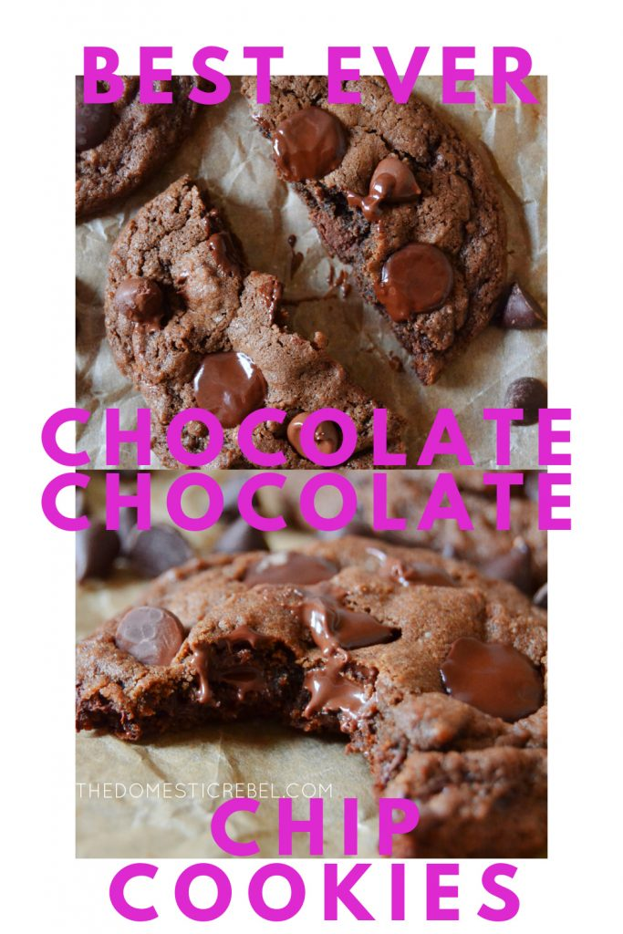 Best Ever Chocolate Chocolate Chip Cookies photo collage