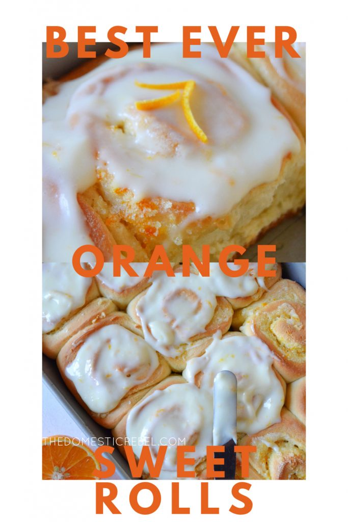 best ever orange sweet rolls photo collage