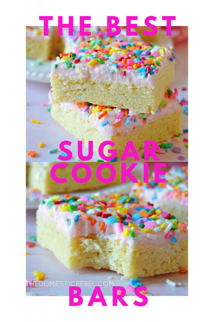 Best Ever Sugar Cookie Bars photo collage