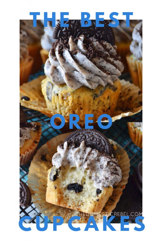 The Best Homemade Oreo Cupcakes photo collage