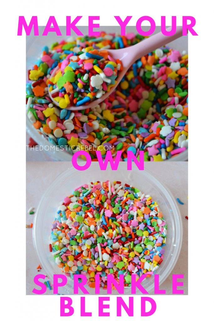 Make your Own Sprinkle Blend photo collage