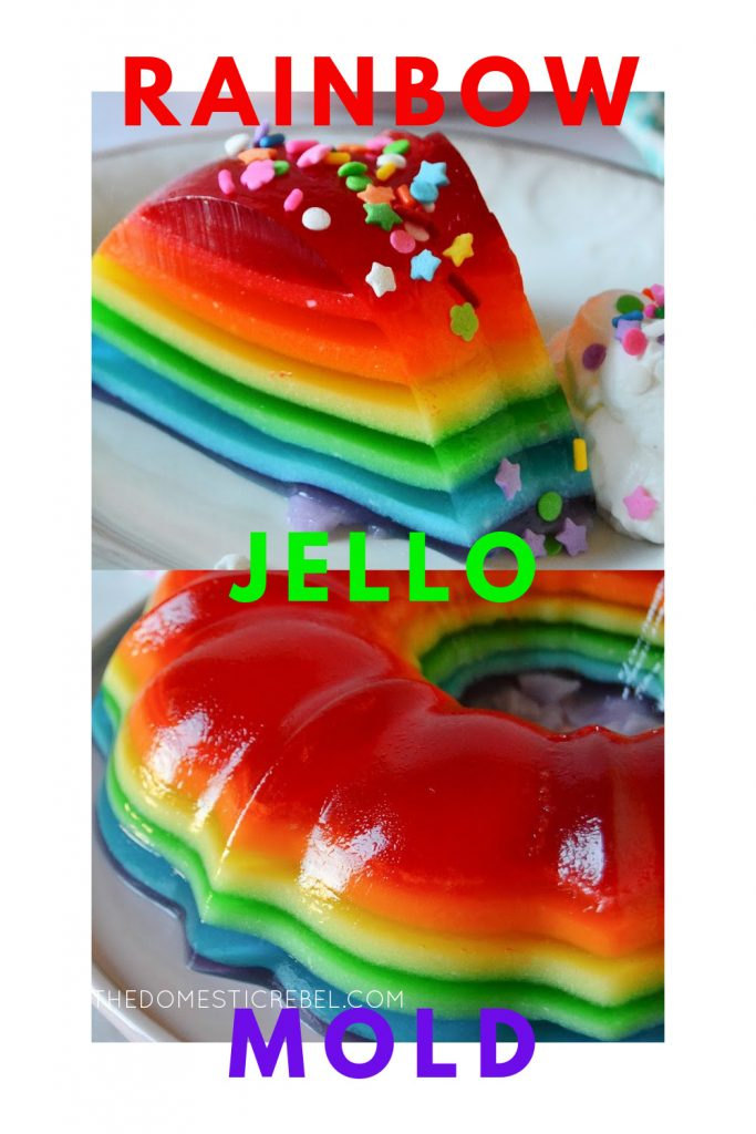 Rainbow Jello Mold photo collage