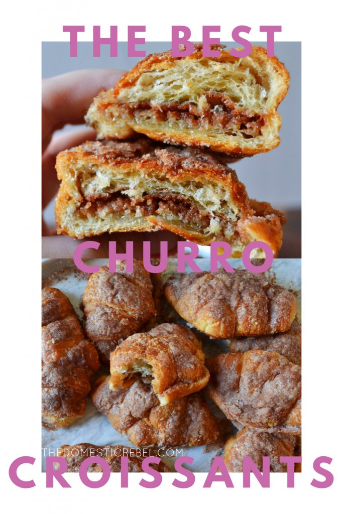 Best Ever Churro Croissants photo collage