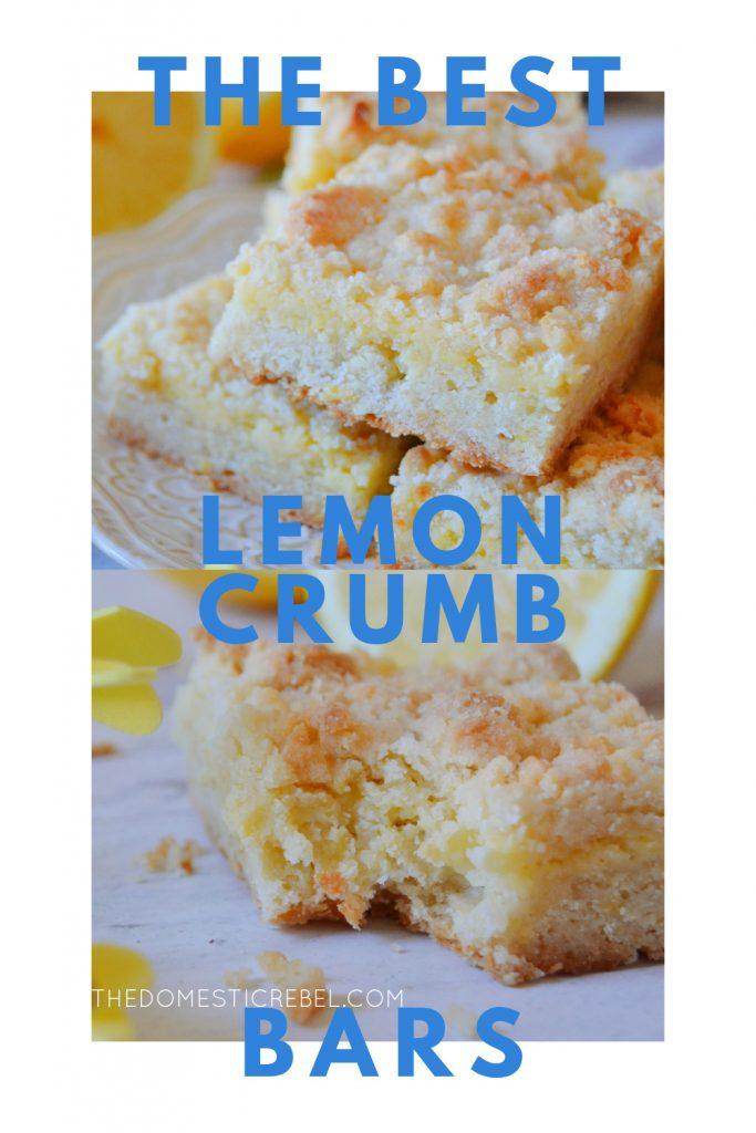 best lemon crumb bars photo collage