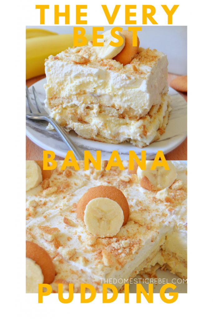 very best banana pudding photo collage
