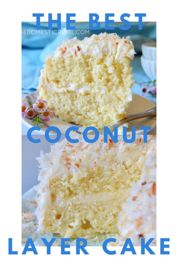best coconut layer cake photo collage