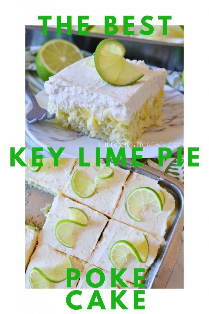 key lime pie poke cake photo collage