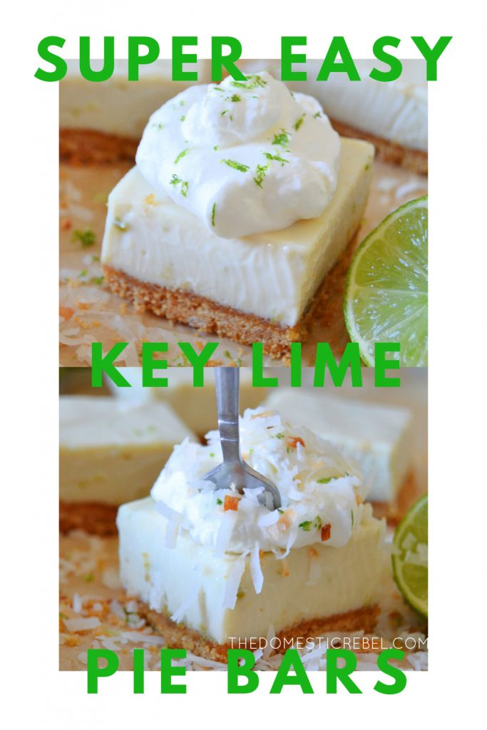 super easy key lime pie bars photo collage