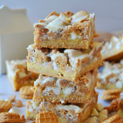 white choc nutter butter bars stacked