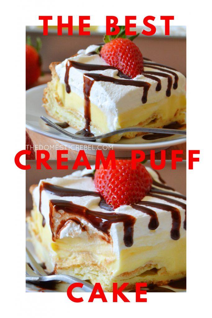 best cream puff cake photo collage