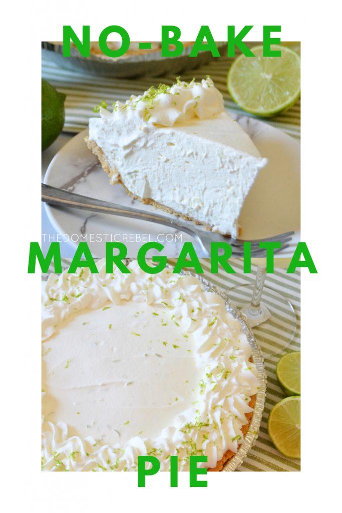 no bake margarita pie photo collage