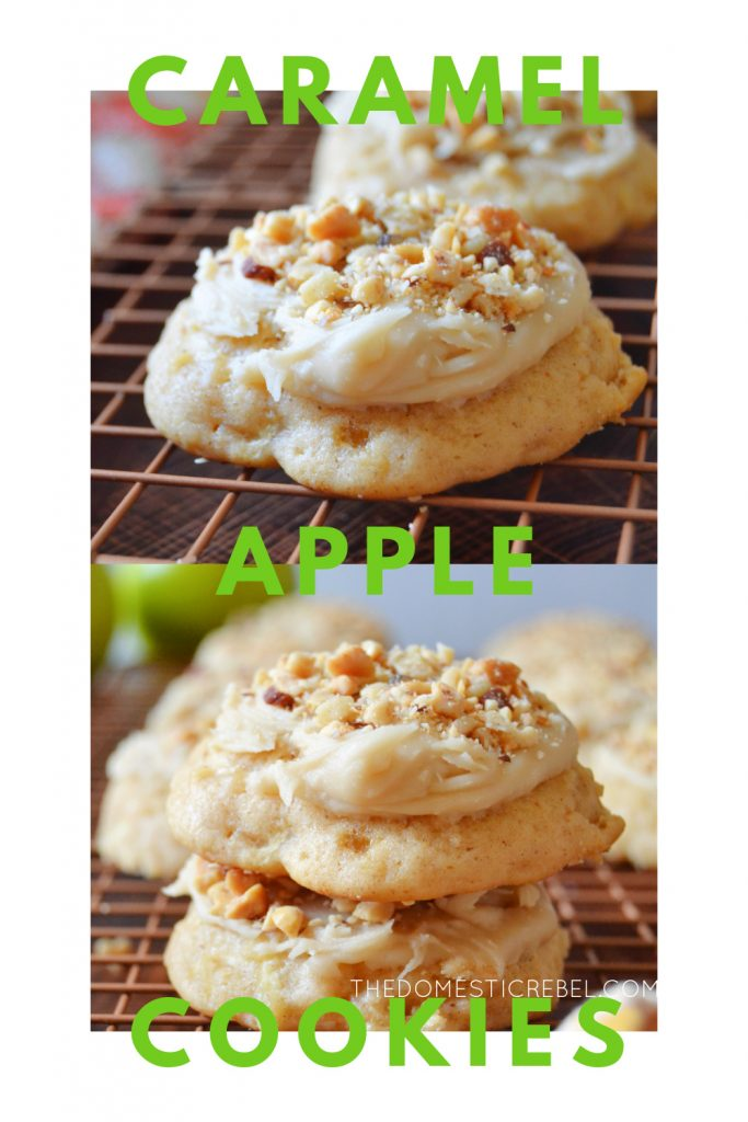 caramel apple cookies photo collage