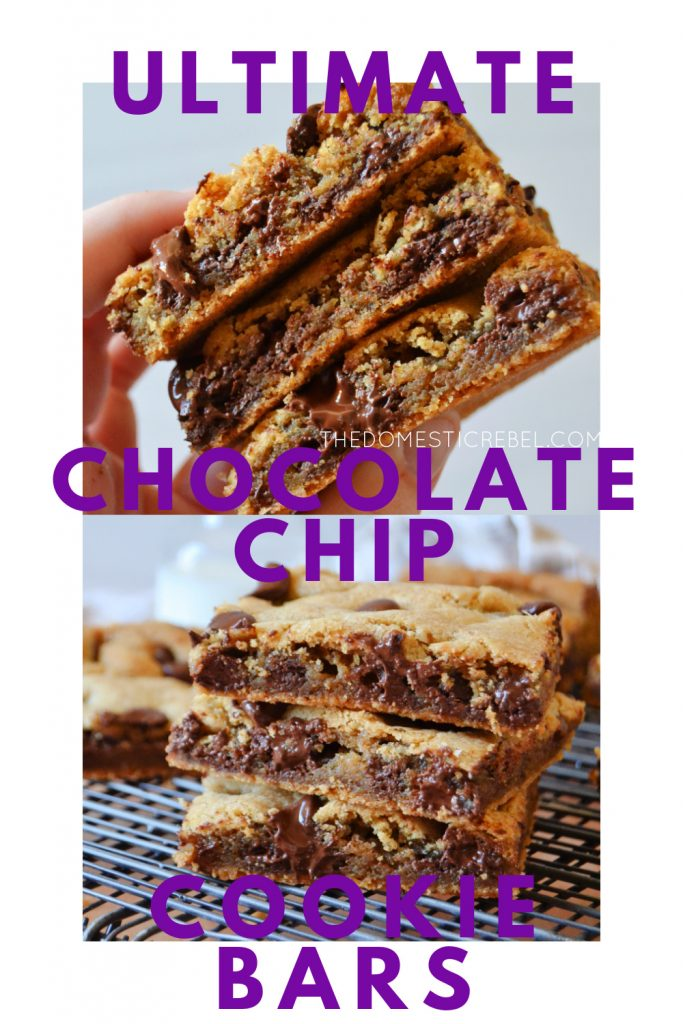 ultimate chocolate chip cookie bars photo collage