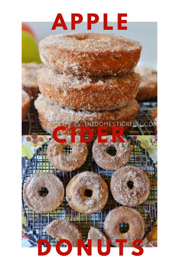 apple cider donuts photo collage