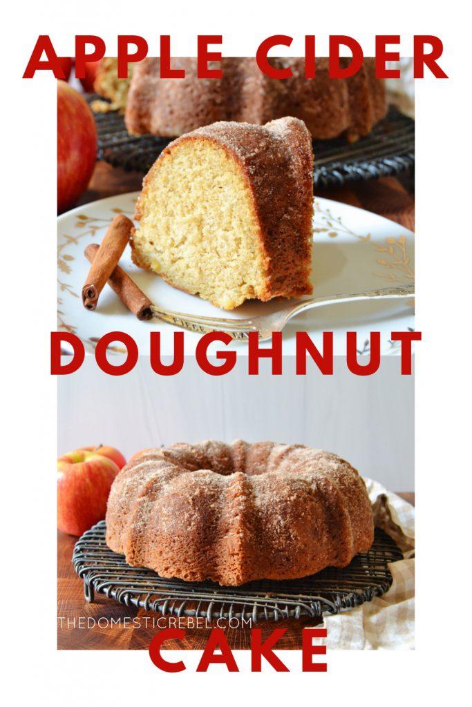 apple cider doughnut cake photo collage