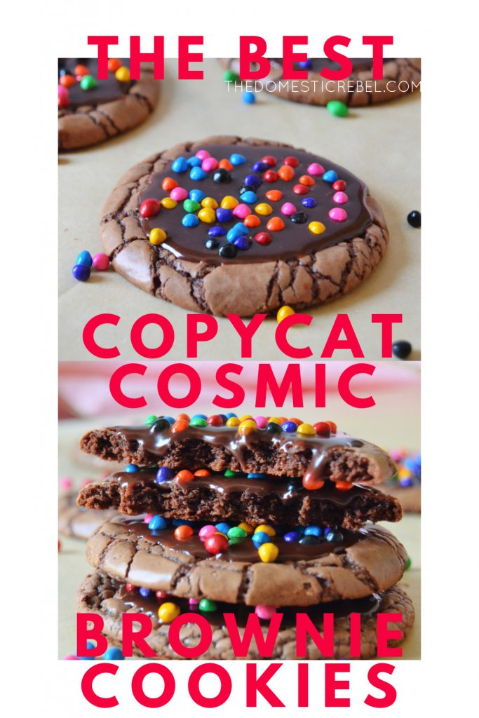 copycat cosmic brownie cookies photo collage