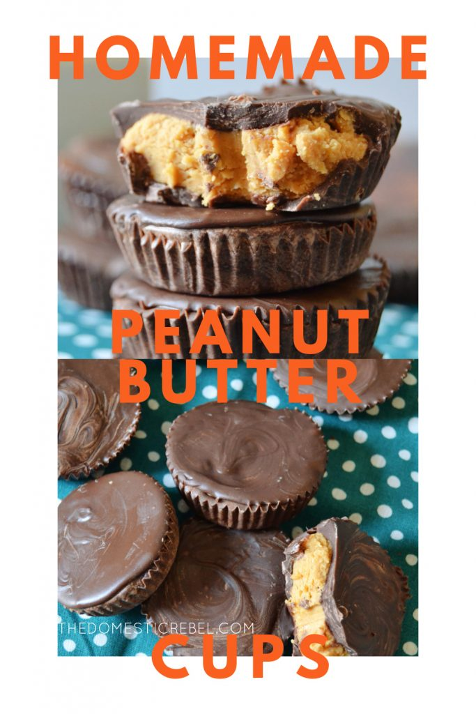 homemade peanut butter cups photo collage