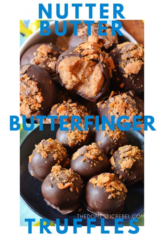 nutter butter butterfinger truffles photo collage